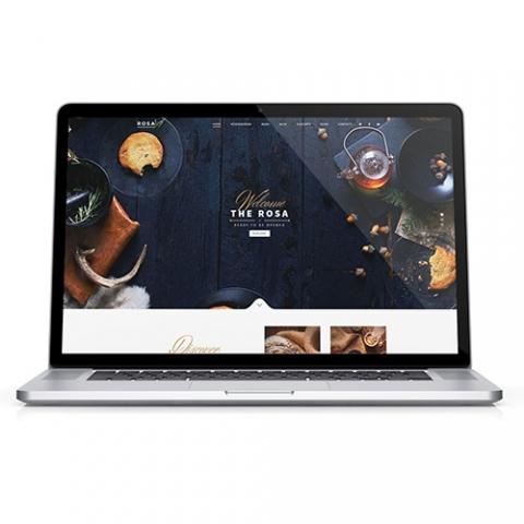esempio_sito_web_wordpress_ristorante_pub_the_rosa_macbook_home