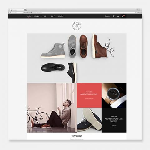 Sito Web Ecommerce WordPress Marvel