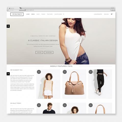 Sito Web Ecommerce WordPress Regency