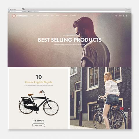 Sito Web Ecommerce WordPress Shopkeeper