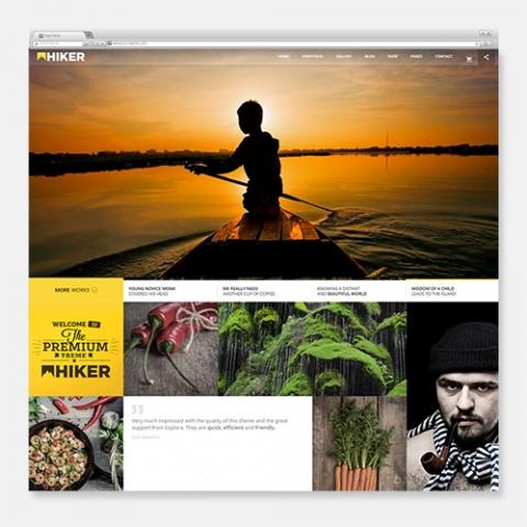 Sito Web WordPress Fotografia Hiker