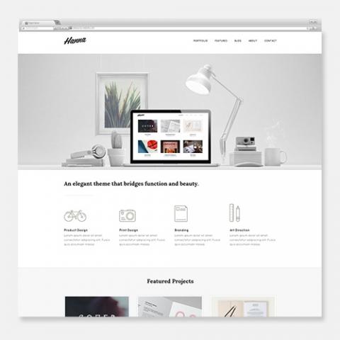 Sito Web WordPress Portfolio Hanna