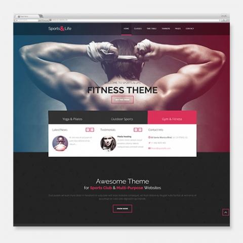 Sito Web WordPress Sports Gym Fitness