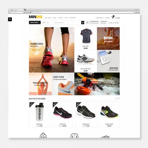 Sito Web Ecommerce WordPress Minding