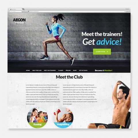 Sito Web WordPress Fitness Aegon