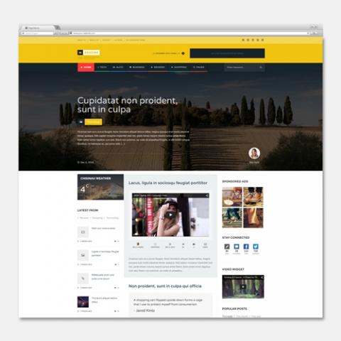 Sito Web Magazine Personalizzabile Alexgurghis