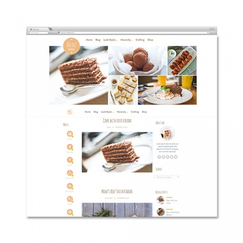 Sito web wordpress ricette cooking cunina chef