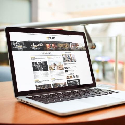 Modello Sito Web Magazine Espresso