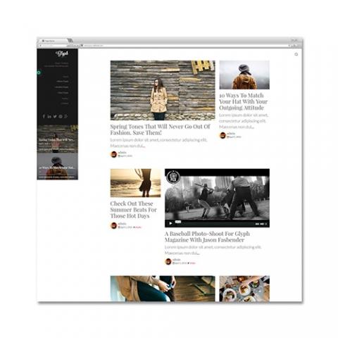 Sito Web fashion blogger Glyph
